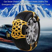 Anti-skid Tire 9 Nail Snow Chains for Cars Truck Winter Emergency Driving D1Z7