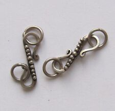 Silver hook and eye clasps Totally hypo-allergenic with 999 pure silver bonded