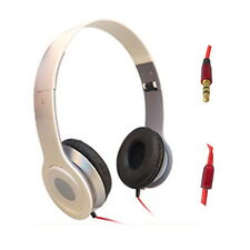 STEREO HEADPHONES DJ FOLDABLE EARPHONE PC IPOD WHITE D095