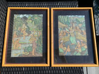Signed Listed Artist IDA WARTA Painting On Silk Bali, Indonesia