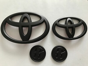 Set Matte Black for 2017+Toyota GT86 Scion FRS Matte Front +Trunk Badge Emblems