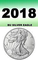 2018 SILVER EAGLE BRIGHT CLEAR UN-CIRCULATED FROM MINT===BU===.999 FINE SILVER==