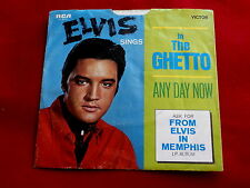 ELVIS PRESLEY~IN THE GHETTO~RARE~ASK FOR~COVER ONLY~ANY DAY NOW~RCA ~ POP 45