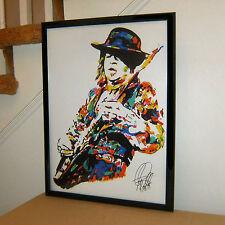 Stevie Ray Vaughan SRV Pride and Joy Guitar Music Poster Print Wall Art 18x24