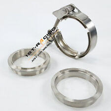 3.0 inch 76mm Quick Release V-Band Clamp Female Male Flanges Kit Stainless Steel