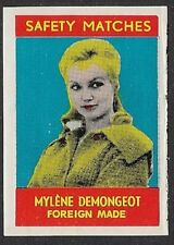 USA Poster stamp: 1950s Safety Matches stamp: Actress Mylène Demongeot- dw815c