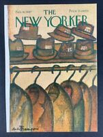 COVER ONLY ~ The New Yorker Magazine, February 18, 1967 ~ Andre Francois