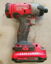 "Used 1x --- CRAFTSMAN 20 Volt Max 1/4"" Impact Driver CMCF800 V20 with Battery"