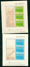 EUROPA 1984 Azores + Madeira Souvenir sheets NH, VF Scott $20.00