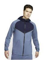 Nike Men's Sportswear Tech Zip Hoodie Blue Small (CJ4277 491) knit fleece