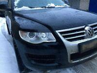 VW TOUAREG FL eyebrows headlight brows tuning trims PLASTIC
