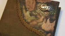 ZEP-PRO Georgia Tech Yellow Jackets Fence Row Camo Bifold Wallet tin gift box