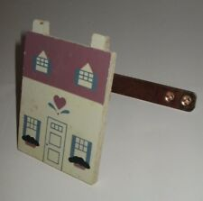 COUNTRY HOUSE HOME DESIGN WOODEN PAINTED WOOD CURTAIL TIE BACK HOOKS SET/8