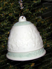 Christmas Bell Ornament (by Lladro, 15913) 1992, Pointsetta, Candle Light Design
