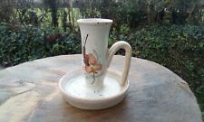 French vintage pottery candlestick