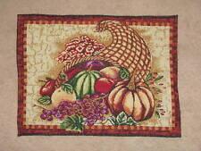 Placemat Cornacopia Thanksgiving  Woven