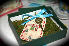 Alice in Wonderland Birthday Wedding Invitation Mad Hatter Tea Party Key Tag Box