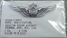 US Army Senior Aircraft Crewman Wing ( Aircrew ) / Badge / NOS 1990