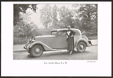 1930s Antique Vintage 1934 Salmson S 4 D Cabriolet Car Automobile Photo Print