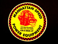 Manhattan Speed Power Equipment Hot Rod, NASCAR & Drag Racing Decal