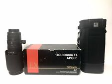 SIGMA 100-300mm F4 APO/ EX/ IF/ HSM LENS for CANON EF w/Case, Box, & Filters