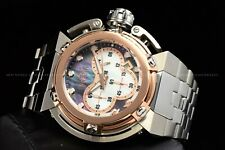 Invicta 46mm Coalition Forces Wide Lug High Polish Rose Gold Silver MOP SS Watch