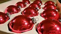 Vtg Pink Glass Christmas Ornaments 1 Dozen Franke 2.5 inch original box