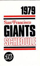 1979 SAN FRANCISCO GIANTS BASEBALL POCKET SCHEDULE