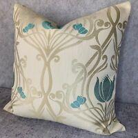 "Blue iLiv /""EVERGLADE/"" Design Floral Embroidery Cushion Cover 16/"" Contemporary"