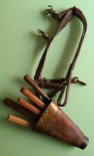 alter Zunftgürtel, Messerköcher mit Messern für Metzger