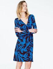 BODEN  New Wrap Dress - Aubergine/Blue - UK 18 R
