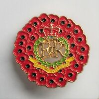 ROYAL MILITARY POLICE POPPY WREATH BADGE IN GOLD METAL