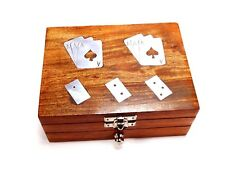 Handmade Wooden Games With Playing Cards And Domino in Game Storage Box Design 3