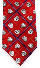 Tango Card Tricks Mens Necktie Silk Red Neck Tie Cards Bridge Poker Gift New