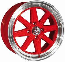 4x calibre Bomb 7x15 4x100 et38 llantas de aluminio rojo honda VW Motorsport Drift JDM rota