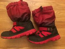stride rite made 2 play Red Black winter sneaker boot toddler boy size 9.5M