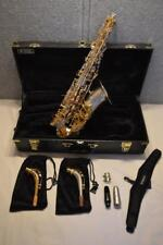 CANNONBALL BIG BELL STONE SERIES ALTO SAXOPHONE - ICED SILVER BELL - GOLD BODY