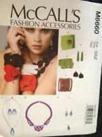 McCalls Sewing Pattern 6660 Fashion Accessories Earrins Necklaces Bracelets