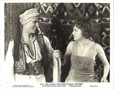 THE SHEIK (1921) Rudolph Valentino Takes Knife From Agnes Ayres Great Close Shot