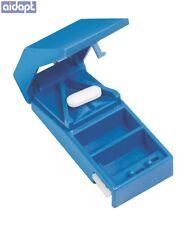 Aidapt Blue Medicine Organiser Lockable Pill Tablet Medication Cutter