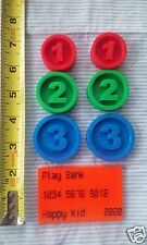 LOT 6 Replacement Coins compatible Melissa and Doug Sort Swipe Cash Register
