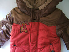NWT Catimini French CELGS SPIRIT Boys Red Doudoune Hooded Jacket Coat 6 M $198