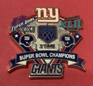 NY GIANTS 3X SUPER BOWL CHAMPS COLLECTOR PIN LAST FEW!