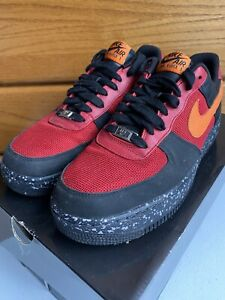 Nike Air Force 1 Premium Size 9.5 315180-681 Black Mandarin Limited Rare