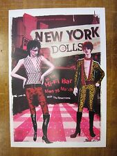 New York Dolls Hi - Fi Bar Melbourne 2007 Concert Poster Art Jazz Feldy