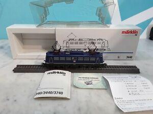 Märklin H0 AC  3440 / BR110 155-9  Elektrolok Blau OVP Digital  L1102_A421