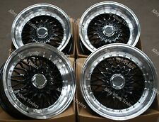 "17 "" Noir Rs Roues Alliage Pour BMW e21 e30 Chevrolet Aveo Corsa Lanos 4x100"