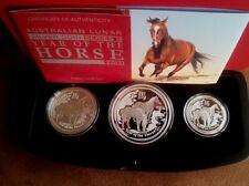 Lunar 2014 Pferd 3 Coin Set max.1000 Stück Proof