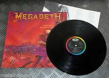 Megadeth 'Peace Sells..' 1st Press 1986 LP Dutch Copy w Lyrics Sleeve VG+/VG+