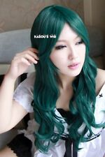 Sailor Moon Michiru Kaiou Neptune dark green 70 cm long body wavy cosplay wig